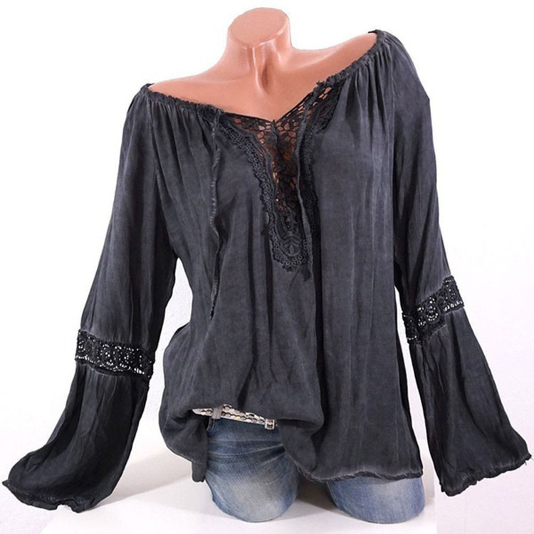 chic women blouse cute hollow out female ladies clothes womens new slash neck top shirt top in Blouses amp Shirts from Women 39 s Clothing
