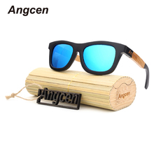 Angcen 2017 New fashion Products Men Women Glass Bamboo Sunglasses au Retro Vintage Wood Lens Wooden Frame Handmade ZF03