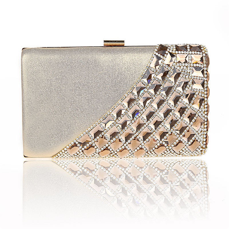 2016 New Single Side Sun Diamond Crystal Evening Bags Clutch Bag Hot Styling Day Clutches Lady Wedding woman bag WY47 2016 new side sun diamond crystal evening bag clutch bag hot styling day clutches lady wedding woman bag free shipping women bag