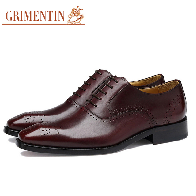 Men Embossed Handmade Real Leather Dress Shoes With Real Leather Sole