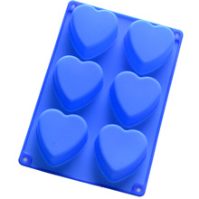 heart shaped silica gel mould cake pudding jelly mold DIY handmade soap silicone molds diy kitchen cake jelly pudding mould blue 12 pcs