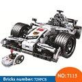 Winner 7115 729pcs Technic RC гоночный автомобиль  электрические строительные блоки  игрушки для детей