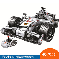 Winner 7115 729pcs Technic Remote Control RC Racing Car Electric Building Blocks Toys For Children