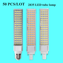 50 PCS/LOT 220V E27 G24-2/4pin Tube lamp LED Light IP20 2835 Lamp beads  led bulb 5W 7W 9W 10W 12W Corn Bulb