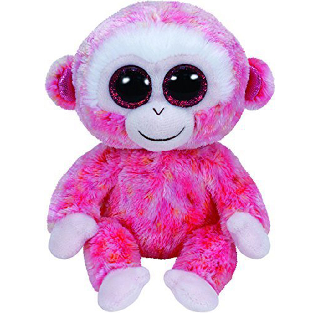 Pyoopeo Ty Beanie Boos 6 Quot 15cm Ruby Pink Monkey Plush