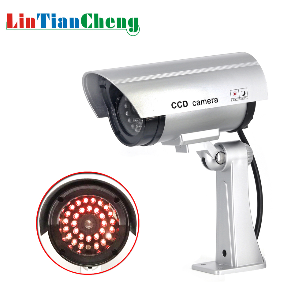 Fake Dummy CCTV Camera Bullet Waterproof Outdoor Indoor Security Surveillance Camera Solar With Led Light Free Shipping