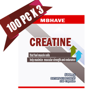 2017 Hot 3 Bottles 300pcs PURE CREATINE MONOHYDRATE For Hectic Sports