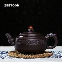 250cc Yixing czajniczek autentyczne fioletowy gliny mistrz Handmade chiński opieki zdrowotnej Kung Fu zestaw herbaty ceramiki Boutique Dragon Ball garnek w Zest. naczyń do herbaty od Dom i ogród na