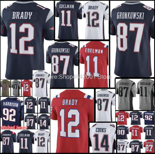dc31df1de3a ... discount code for mens jerseys 10 josh gordon 12 tom brady 87 rob  gronkowski 11 julian