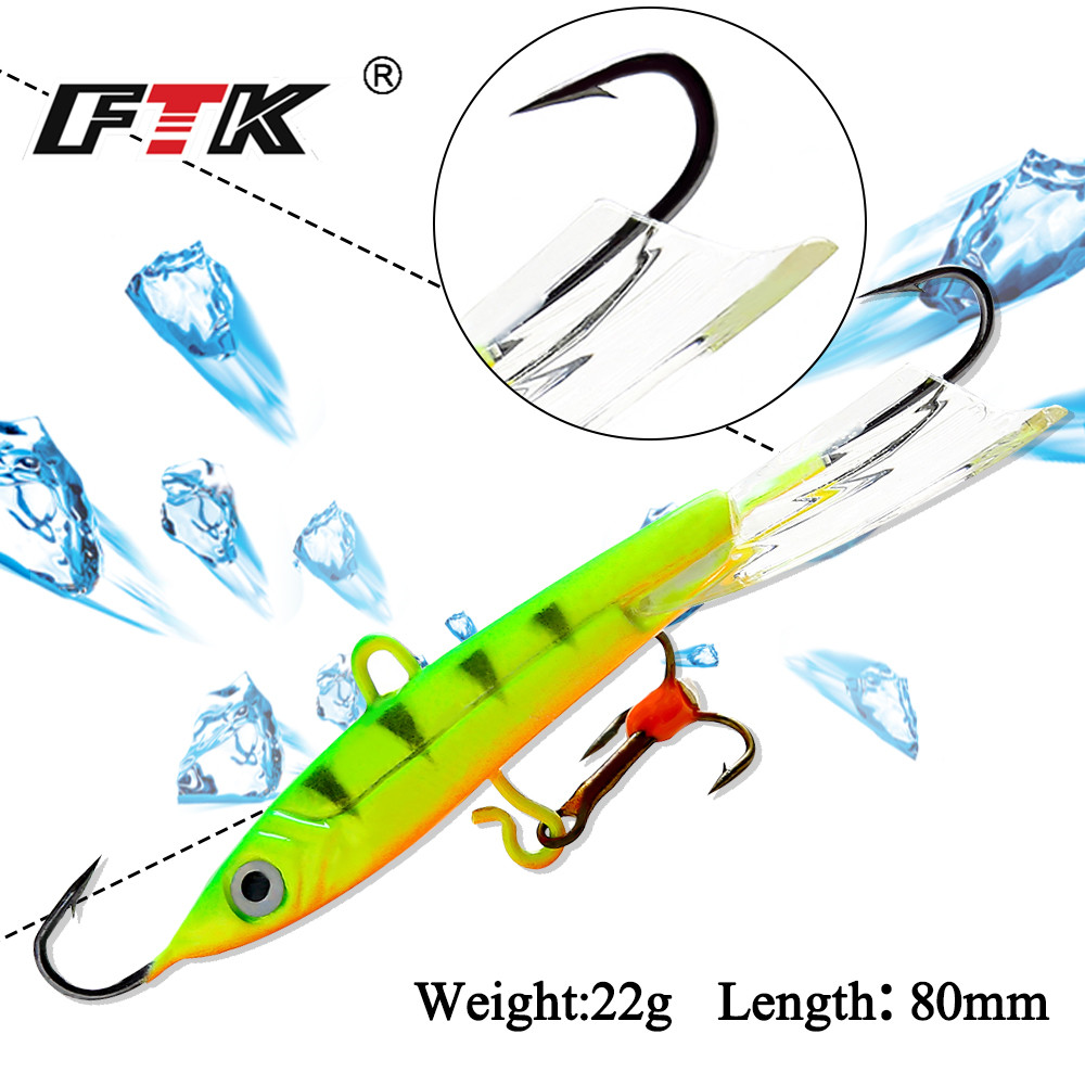 FTK 1PC Colorful Winter Ice Fishing Lure Hard Bait Pesca Tackle Isca Artificial point drill Bait Crankbait Swimbait Winter fishing lure minnow lures hard bait pesca fishing tackle isca artificial 11cm 13g quality hook swimbait