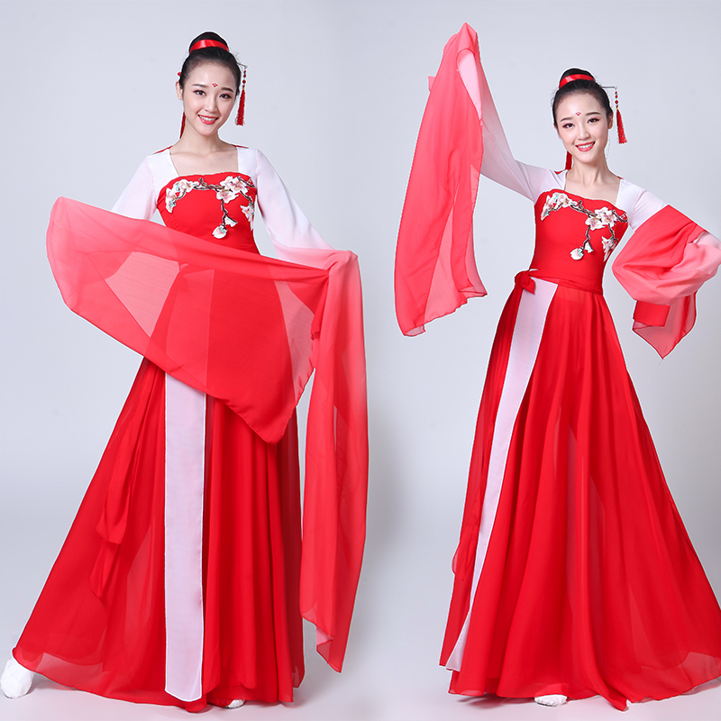 Chinese style Hanfu classical dance costumes female 2019 new style dance costumes sleeve dance costume
