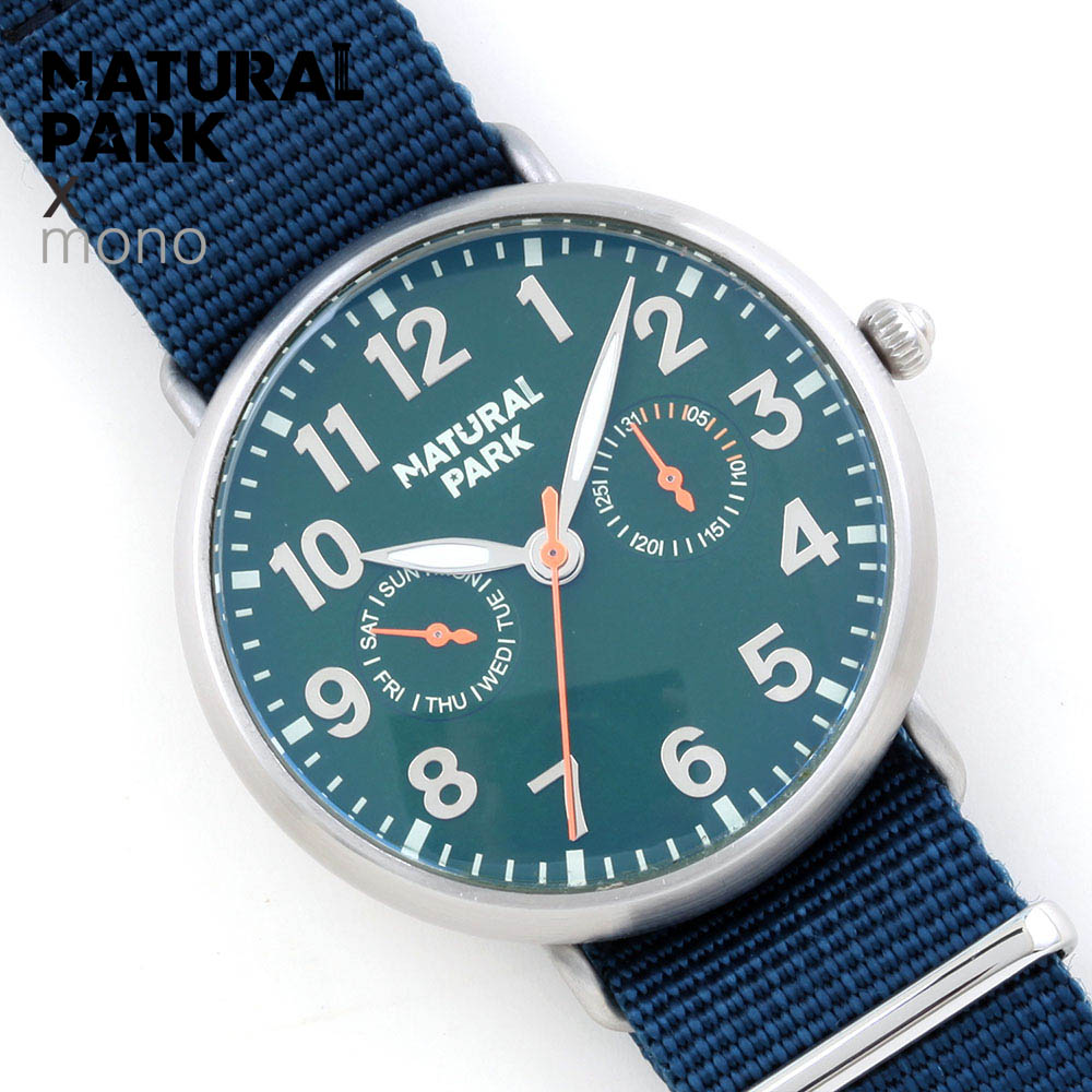 NATURAL PARK Original Luxury Brand Sports Military Quartz Watch Man Analog Date Clock Nylon Strap Wristwatch