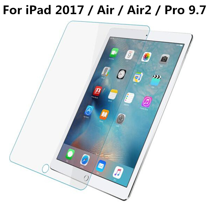 Screen Protector for Apple iPad 2017 / Air Air 2 Pro 9.7 / 5 6 iPad5 iPad6 9.7 inch Tablet Tempered Glass Protective Film replacement lcd front outer screen glass lens with tools kit for apple iphone 6 plus 5 5 inch