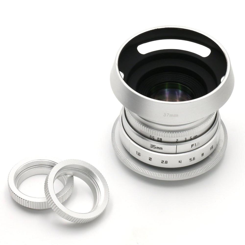 Fujian 35mm f/1.6 CCTV II cine camera lens for M4/3 / MFT Mount Camera & Adapter bundle