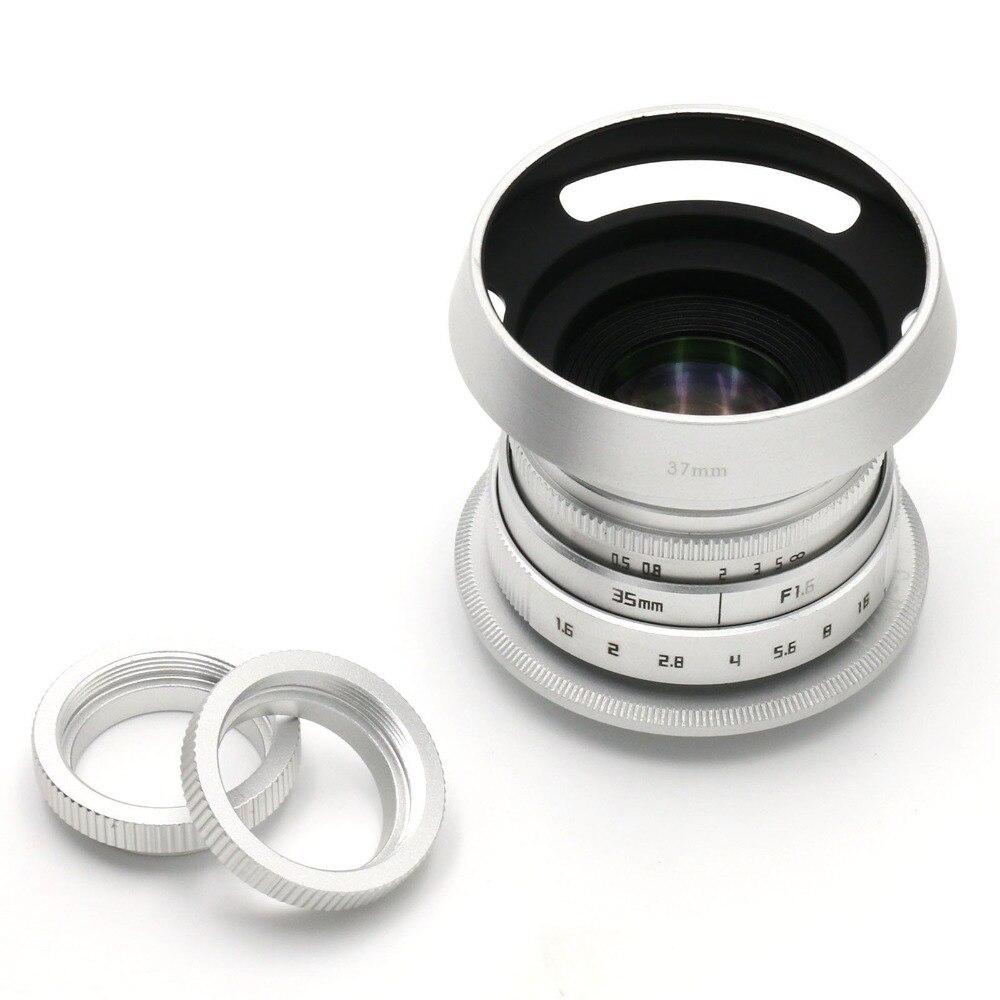 Objetivo de cámara Fujian 35mm f/1,6 CCTV II cine para cámara M4/3/MFT adaptador de paquete