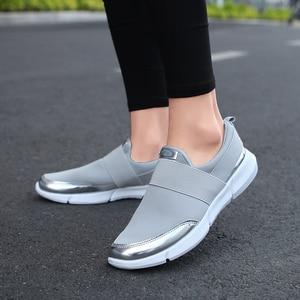 Image 2 - Turnschuhe Frauen Vulkanisierte Schuhe Mode Lässig Turnschuhe Damen Wohnungen Slip Auf Weibliche Schuhe zapatillas mujer