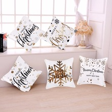 FENGRISE Christmas Pillow Case Merry Christmas Decoration for Home Christmas Ornaments Deer Santa Claus Happy New Year 2019