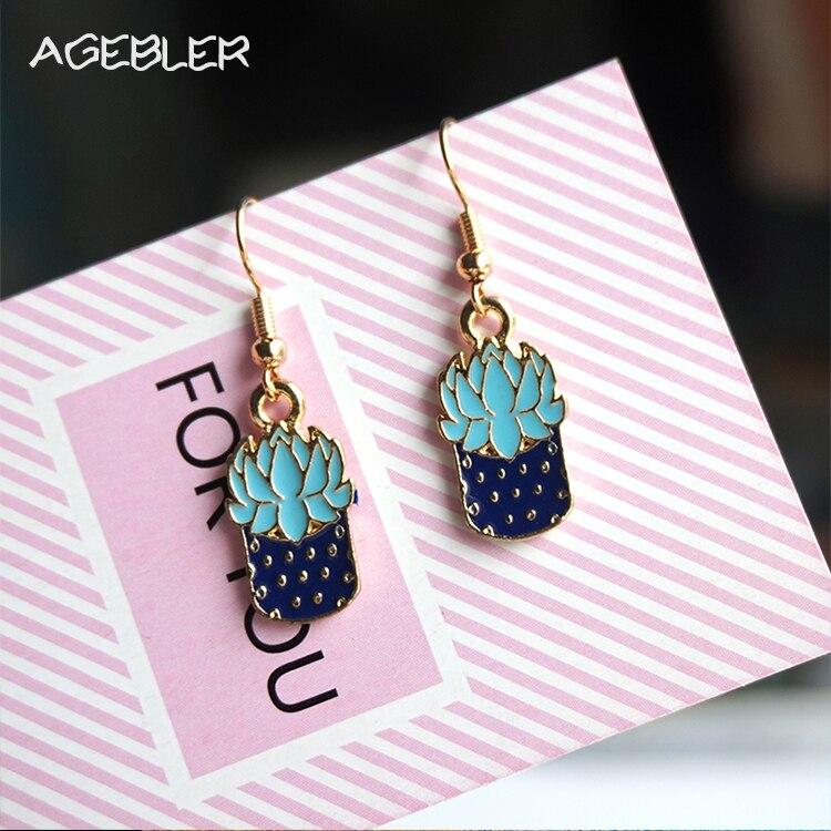 Original Design New Women Dangle Earrings Cute Succulents Earring Christmas Gift Accessories Girl Cute Jewellery Gold Color