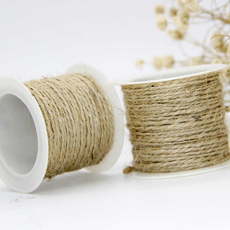 1020f0f75ee4 10M/Roll Cords Handcraft Weave Hemp Rope Wedding Party Decor Knitting Cords  Gift Packing String Home Decoration Accessories