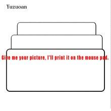 Yuzuoan Anpassen Unterstützung Große Gaming Mouse Pad Locking Rand DIY Mousepad Geschwindigkeit Maus Matte Für CS GEHEN League von Bein dota 11 Größe
