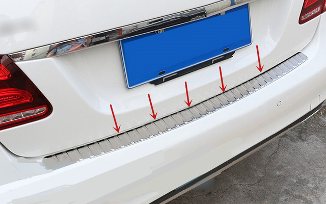 Rear Per Step Plate Cover Protector For Mercedes Benz E Cl Sedan W212 E200