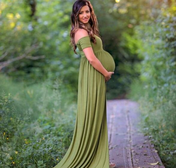 Maternity Photography Props Pregnant Chiffon Gown Dresses Pregnancy