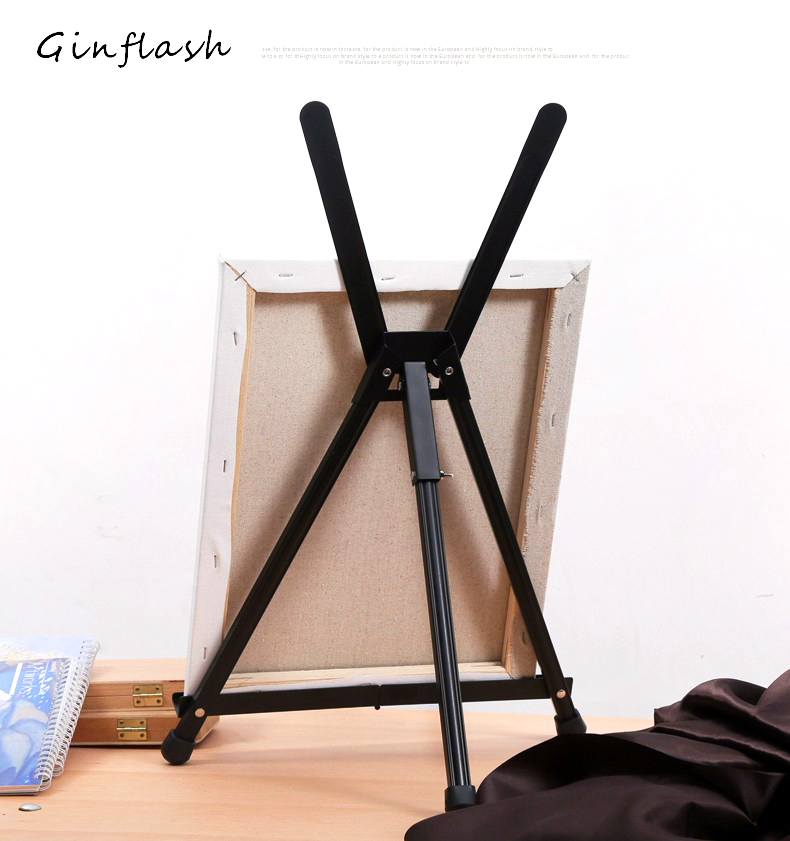 Foldable Painting Easel Display Aluminum Alloy Sketch Easel Frame Artist Adjustable Tripod Display Shelf ACT041 transon foldable wood easel tabletop easel for artist painting and display sketch easel art supplies
