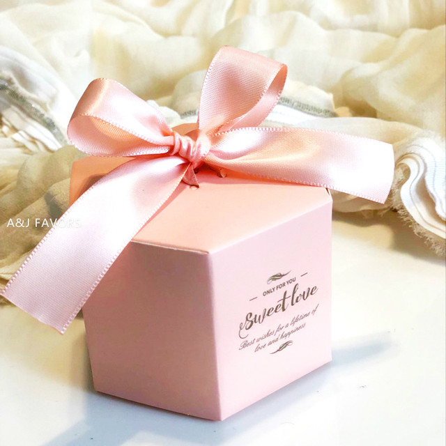 Us 29 9 50pcs Lot Pink Blue Red Purple Anniversary Personalized Wedding Party Favor Holder Gift Boxes Custom Candy Box For Guests In Gift Bags