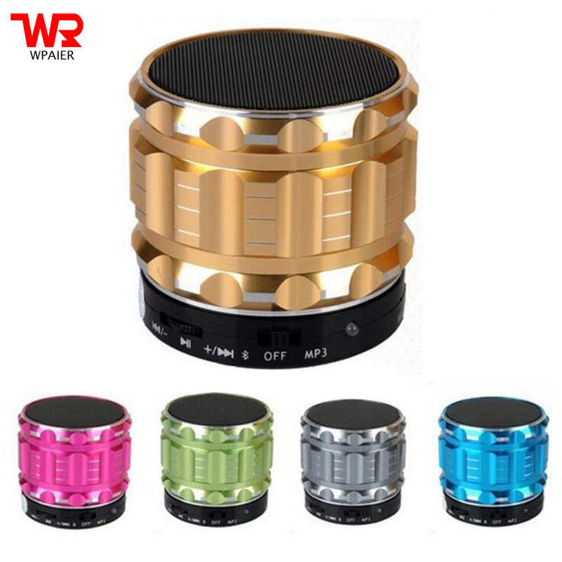 WPAIER S28 Metal Wireless Bluetooth speaker portable outdoors mini audio bluetooth speaker support TF/USB Universal type