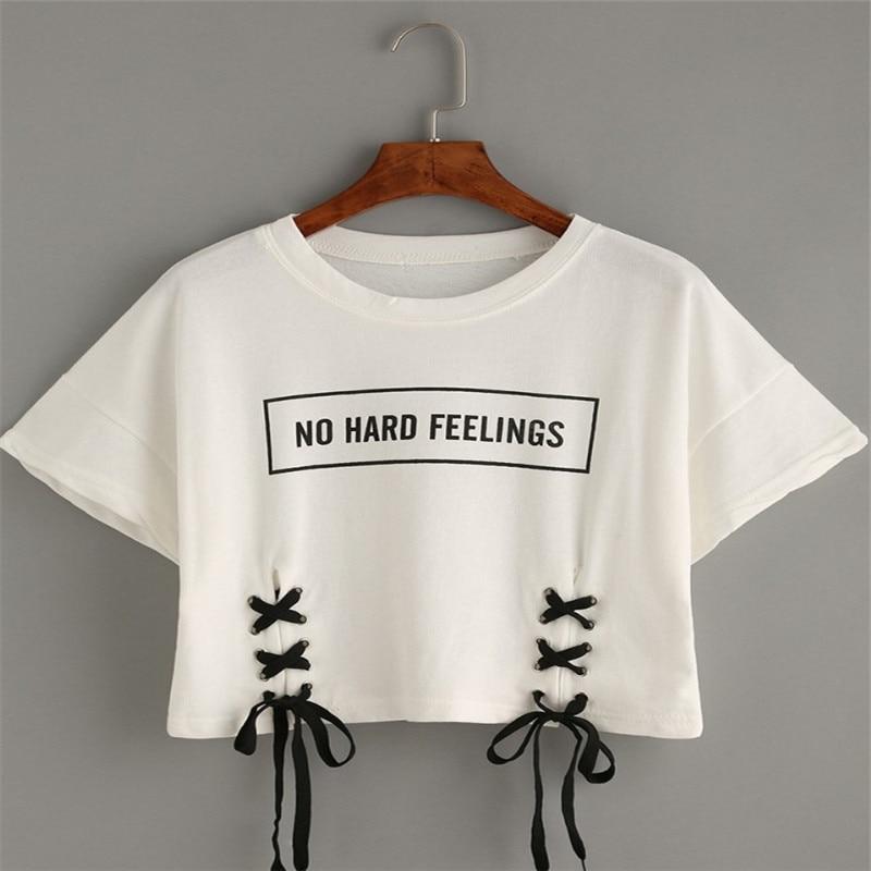 FELIZ PRETTY nuevo verano tops de mujer camiseta de mujer letra de - Ropa de mujer - foto 3