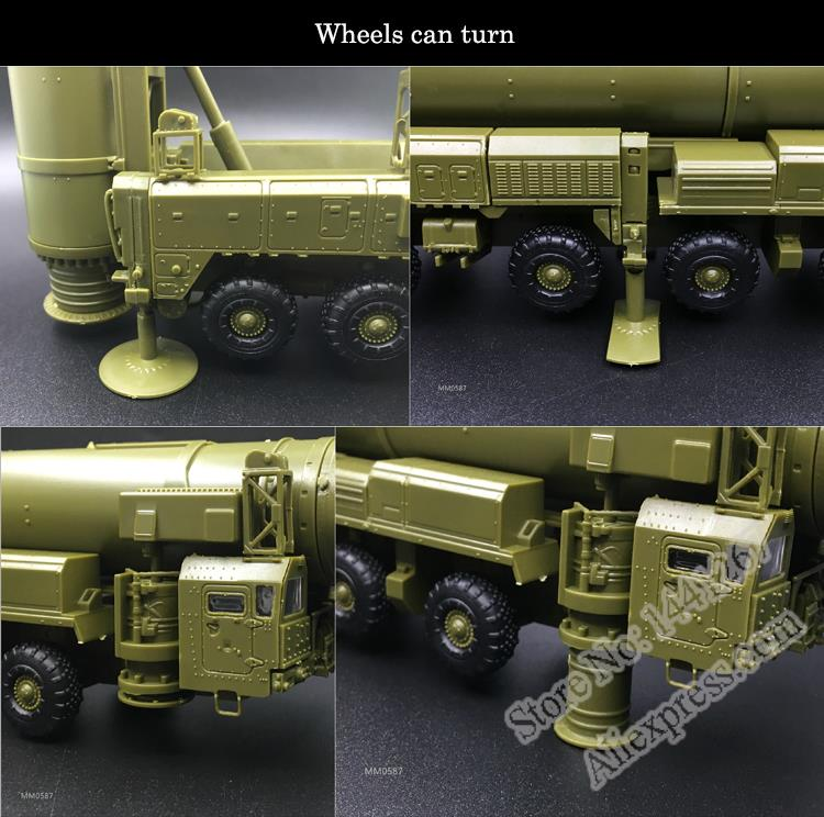 1:72 Russian RT-2PM Military Ballistic Missile vehicle Launcher Assembly Model