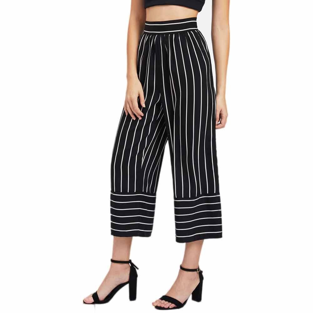 Sleeper#401 2019 NEW FASHION   Pants   simple deisgn Women Sexy High Waist Stripe Print Floral   Wide     Leg     Pants   summer Free Shipping