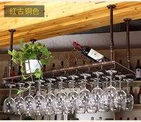 60 100 см кованого железа Классическая Полезная Мода бар красное вино Стекло вешалка держатель настенный шкаф хранения Организатор рюмки сто