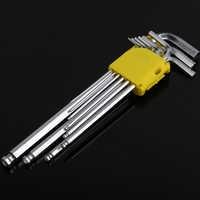 9 Pcs Allen Buchse Hex Schlüssel Hexagon Wrench Set 1,5mm-10mm Carbon Stahl Drehmoment Spanner Verstärkt Verschärfen metric Ball Ended Werkzeug