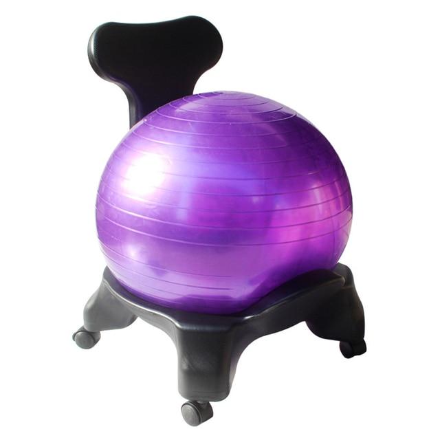 Boule De Yoga Chaise Balance Ball Avec Retour Support 55 Cm Ballon Stabilite
