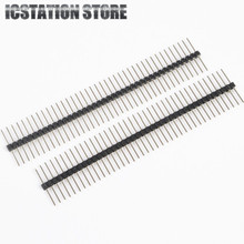 100pcs 2.54 1×40 40 Pin Single Row Male Breakable Pin Header for Arduino 20mm