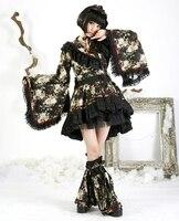Панк RAVE женское винтажное платье стимпанк Готическая Лолита Grils сексуальное платье кружевное черное платье Лолита женское кимоно платье