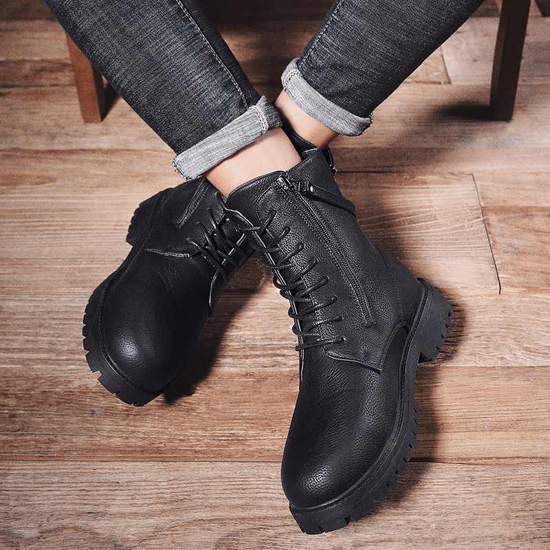 Martin bottes haute aide chaussures bottes en plein air Sport loisirs temps chaussures en cuir hommes confortable respirant haute qualité chaussures de sécurité - 4