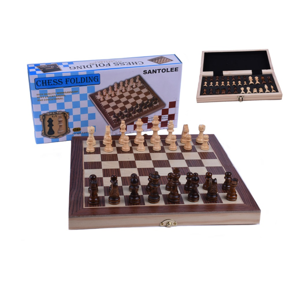 School Tournament Folding Chess Set Black