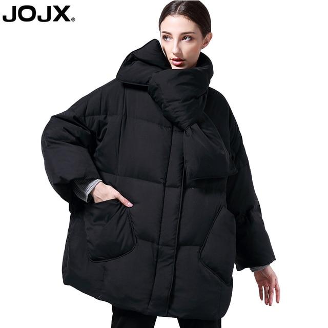 JOJX kış ceket kadın kısa dikiş yastıklı Parka ceket ceket 2018 moda düz renk Tricolor Streetwear palto kadın