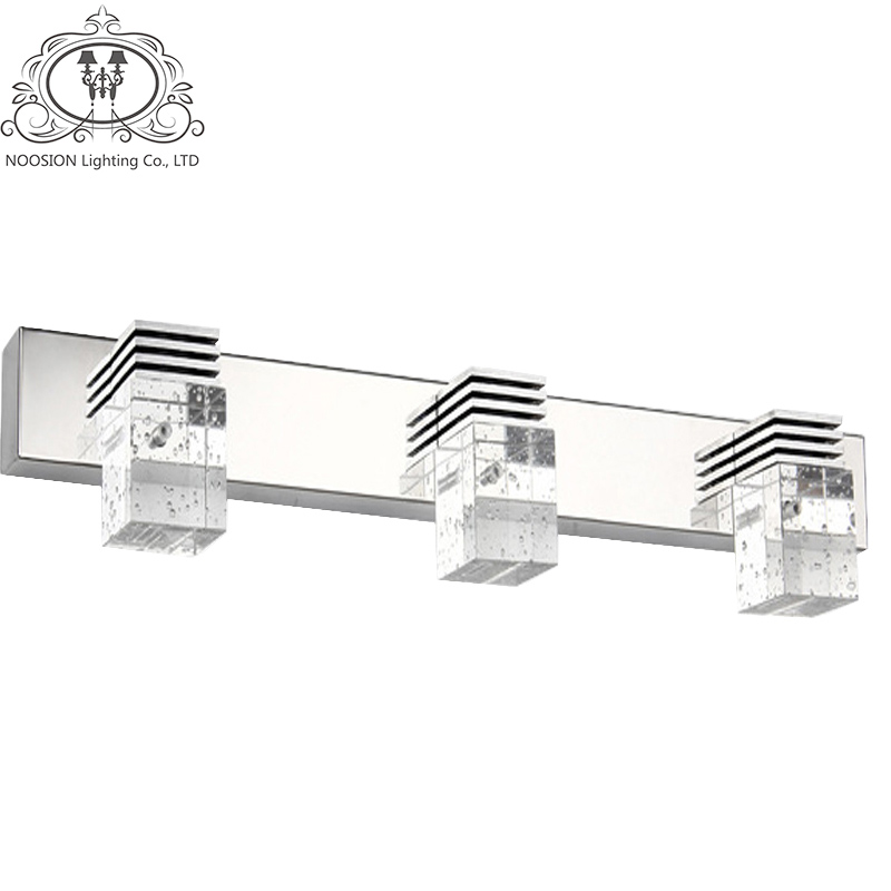 NOOSION Modern Led Crystal Bathroom Mirror Lighting Led Wall Sconce Lamps In Bedroom Living Room Bathroom Vanity Light modern 18w led waterproof bathroom wall light fxiture 680mm long crystal mirror lamps in bedroom 85 265v