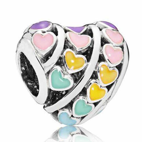 Luksusowe uroczy klaun serca kwiaty kryształ symulowane Pearl wisiorki koraliki Fit Pandora Charms bransoletki kobiety Maxi DIY Berloque