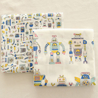 Printed Cotton Linen Fabric For Sewing Quilting DIY Positioning Cloth Of Curtain Bag Cushion Furniture Sofa