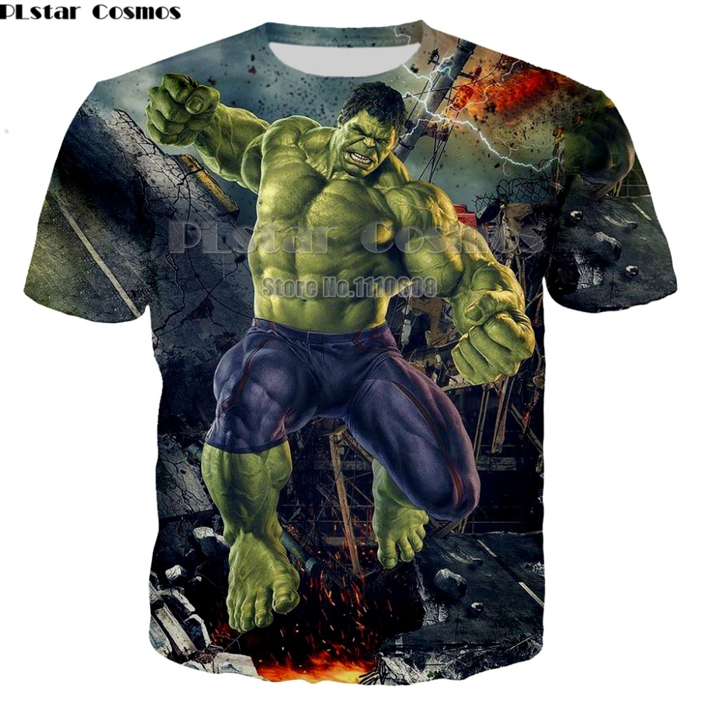 Newest Hulk T-Shirt comics The Avengers heros t-shirt 3D printing Superhero Thanos Hawkeye Hulk Shirt 7XL