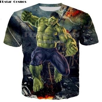 Newest Hulk T-Shirt comics The Avengers heros t-shirt 3D printing Superhero Thanos Hawkeye Hulk Shirt 7XL climate usa comic animation super heros avengers fans hulk iron black widow captain hawkeye snapback hiphop caps hat adjustable