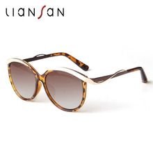 LianSan Cat Eye Vintage Polarized Female Sunglasses Retro Women Luxury Brand Designer Plastic Fashion Pink Black UV400 LSPZ1534