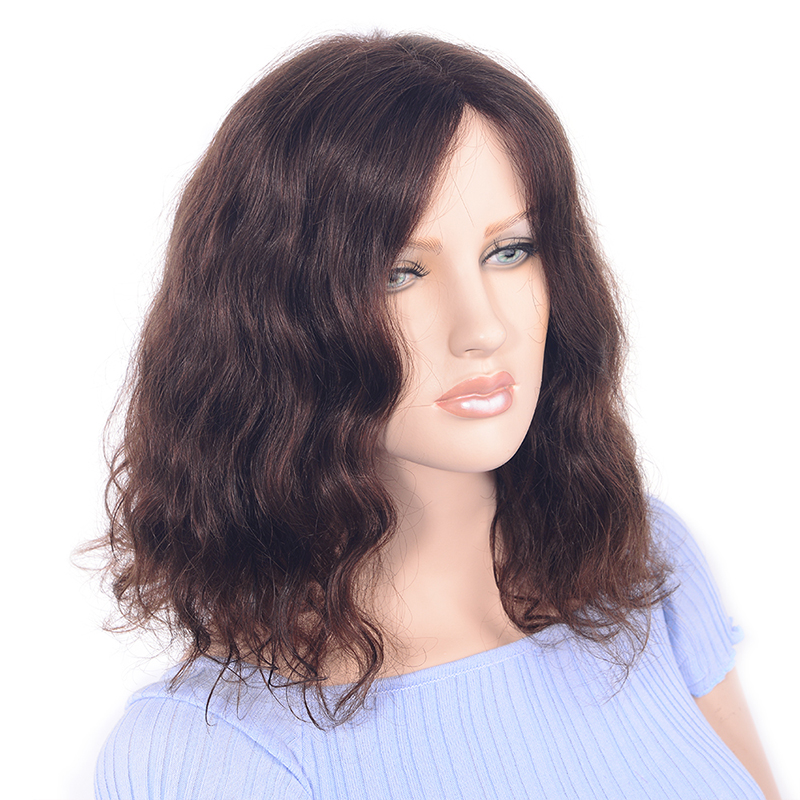 LADYSTAR Remy Hair Wigs For Women Lace Front Wigs Weave Human Hair Bob Wig 150% Density Human Hair Wigs Dark Brown Color 14inch