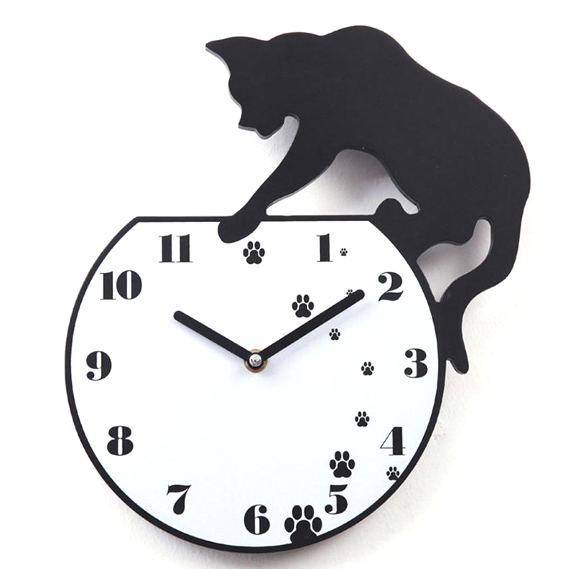 Hot Wall Stickers Wallstickers Cute Footprints Acrylic Clock Modern Home Decor Decoration In Home-in Wall Clocks from Home & Garden