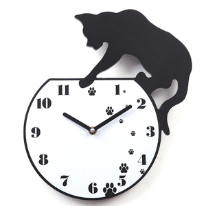 Image 1 - Hot Wall Stickers Wallstickers Cute Footprints Acrylic Clock Modern Home Decor Decoration In Home