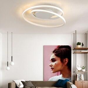 Image 3 - AC85 265V Plafond Verlichting LED Lamp Voor Woonkamer Slaapkamer Studeerkamer Thuis Modern Wit of Zwart opbouw Plafond Lamp